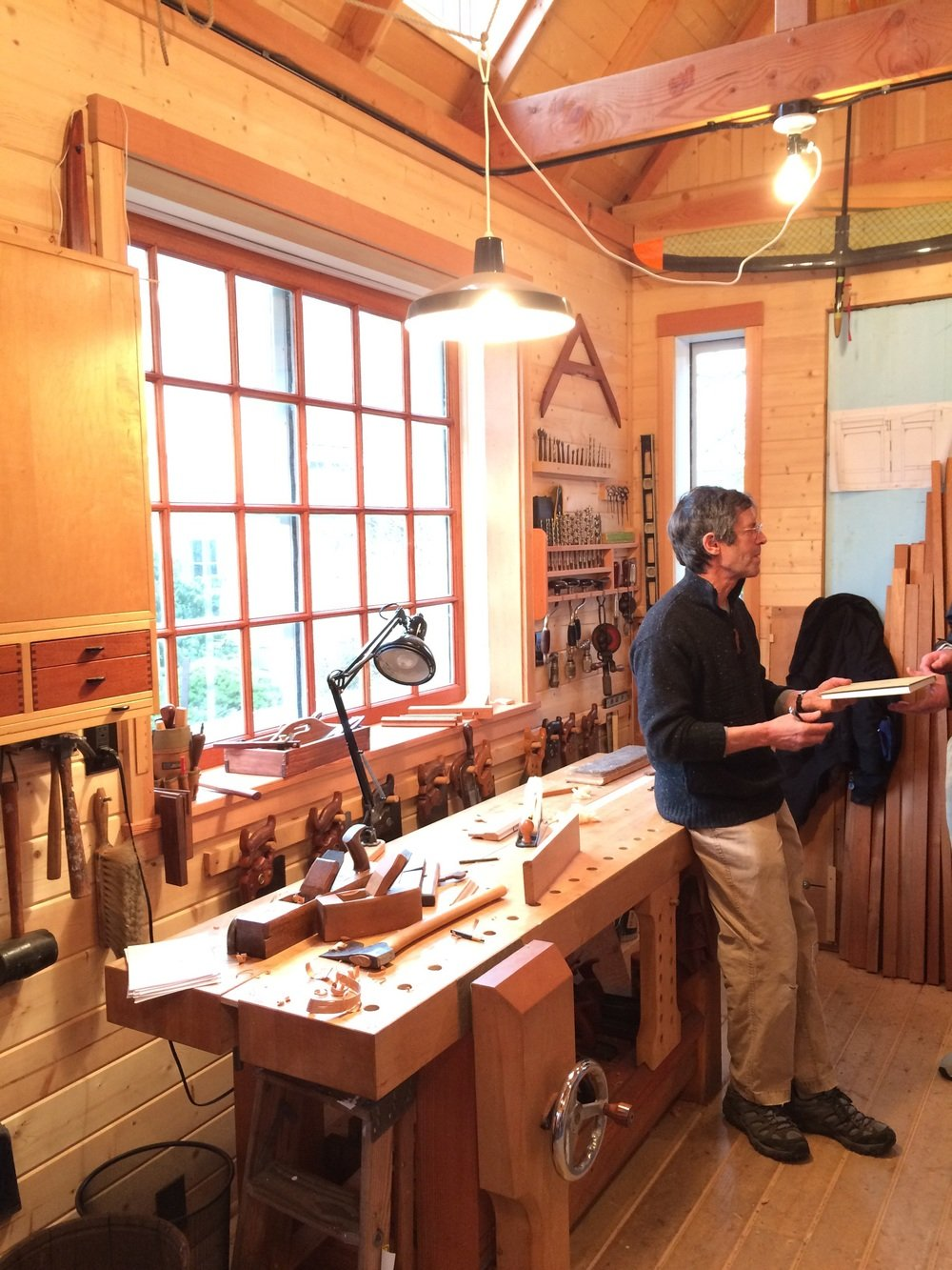 The best unintentional benefit of this class was a tour of Jim's personal hand tool shop.