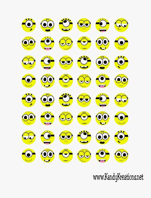 What could be better than Hersheys Kisses? Hersheys Kisses with little minion faces on the bottom!  Printables from Kandy Kreations .
