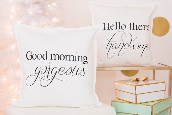 Gorgeous pillow covers from  FancyItPretty