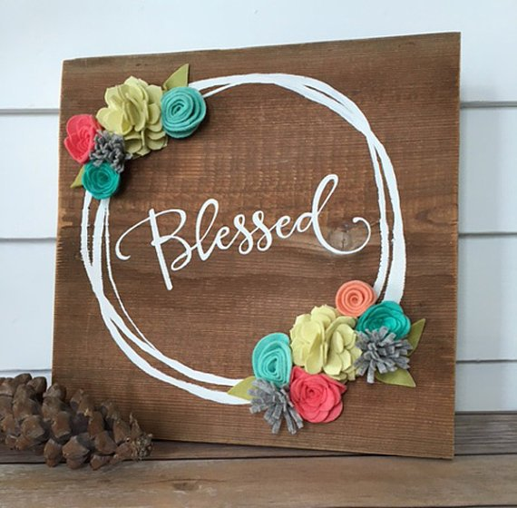 Blessed wall decor from  TheOldWhiteShedIowa