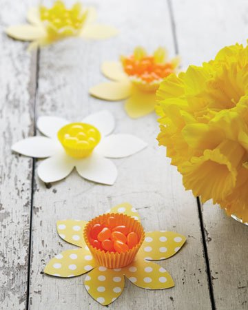 Daffodil Cups from Martha Stewart free easter printables