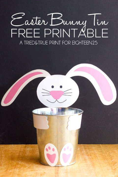 Easter Bunny Tin from Tried and True free easter printables