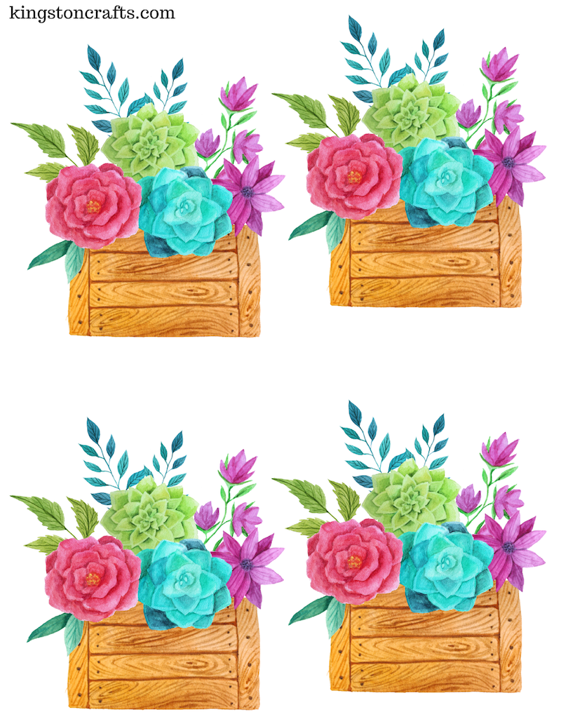 Free printable flower place cards