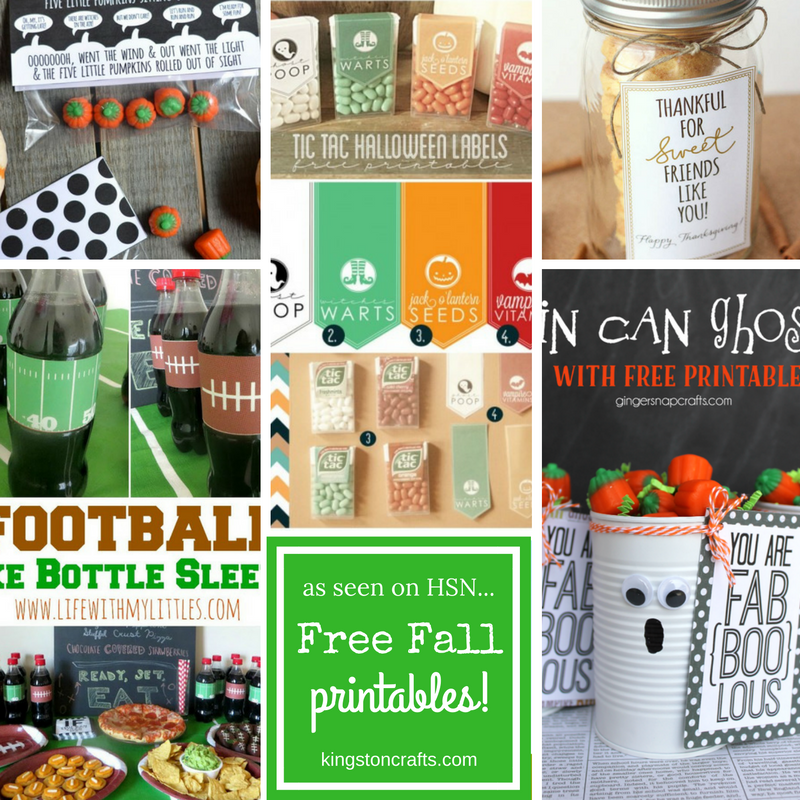 as seen on HSN free fall printables