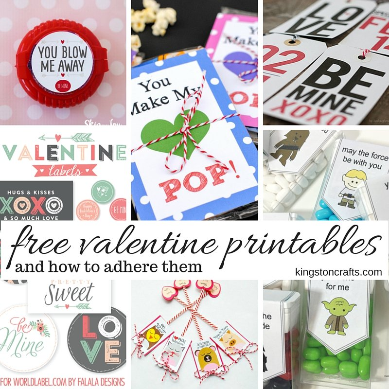 free valentine printables and how to adhere them