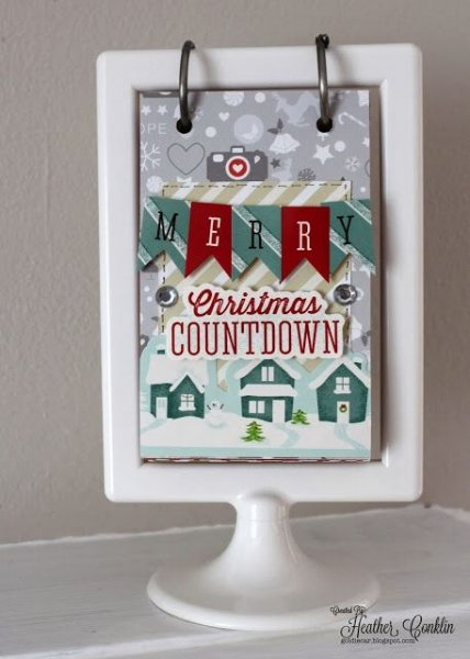How about a Christmas countdown calendar? From goldiecardsigns .