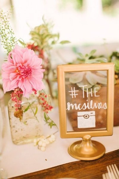 Add a little spray paint and you've got custom table numbers/menu signs/etc for your wedding! From ruffledblog .