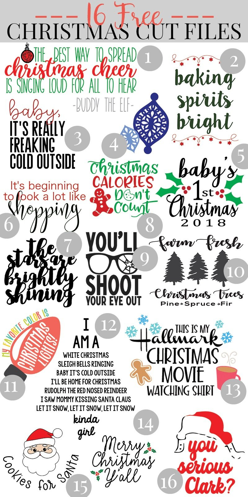 Christmas Svgs Free.Free Svg Files For Christmas Kingston Crafts