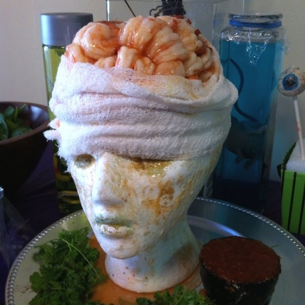 Shrimp Cocktail Brain from  Martha Stewart