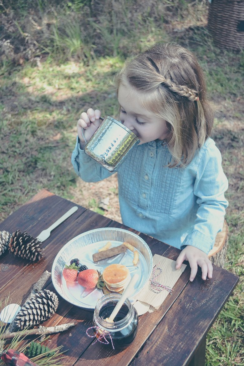 Fawn Over Baby outdoor lumberjack birthday party young girl