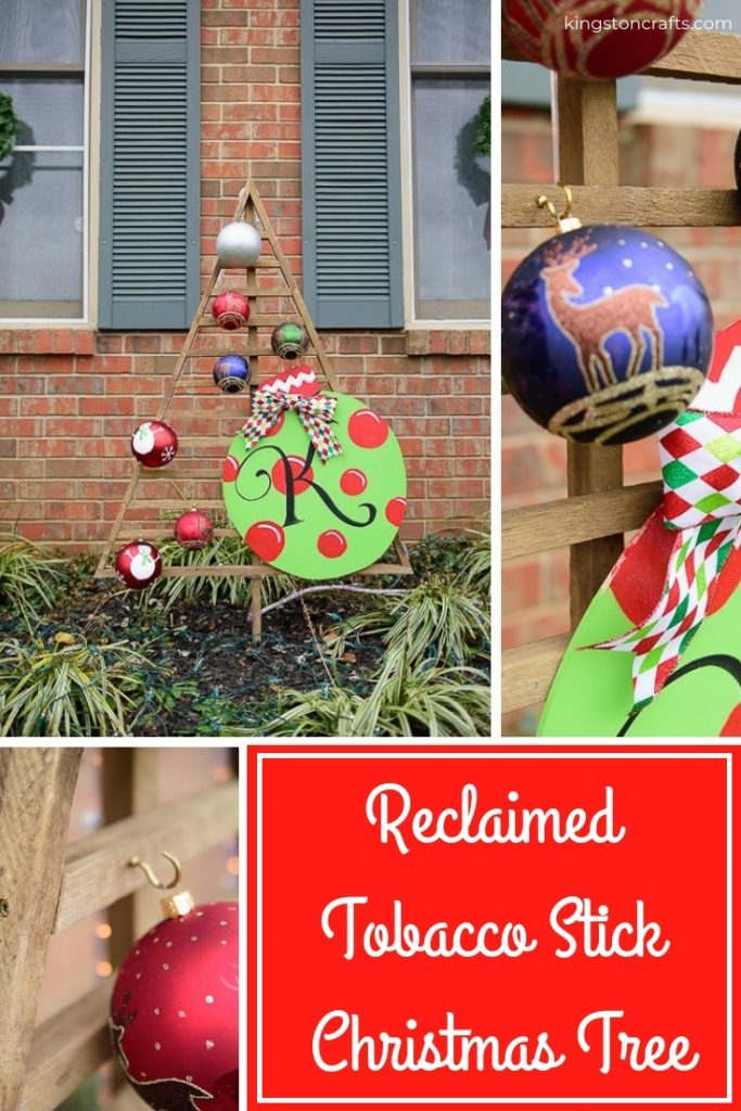Reclaimed Christmas String Art Ornaments