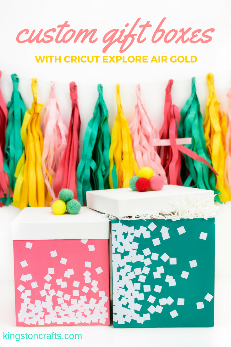 Custom Gift Boxes with Cricut Explore Air Gold