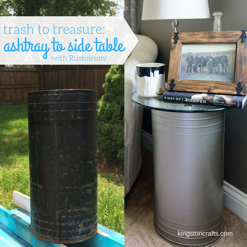 Trash to Treasure turn an ashtray in to a side table