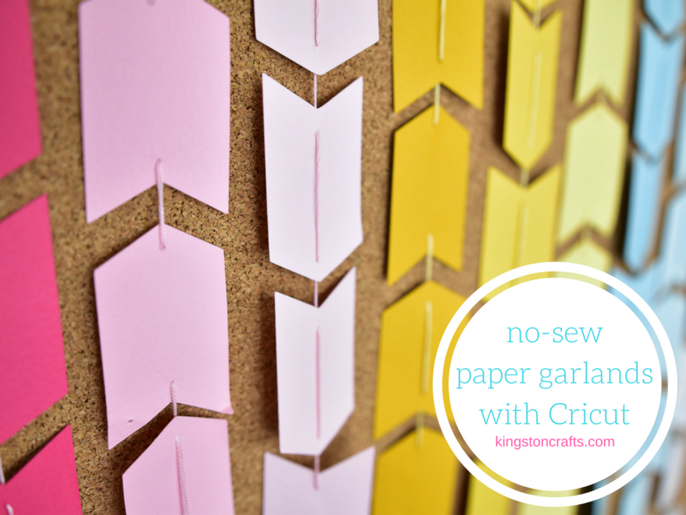no sew paper garland with cricut