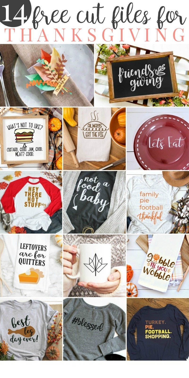 Free SVG Files for Thanksgiving