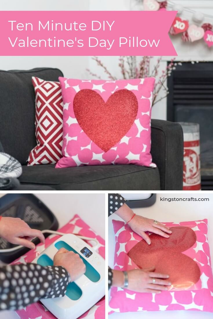 Ten Minute DIY Valentine's Day Pillow