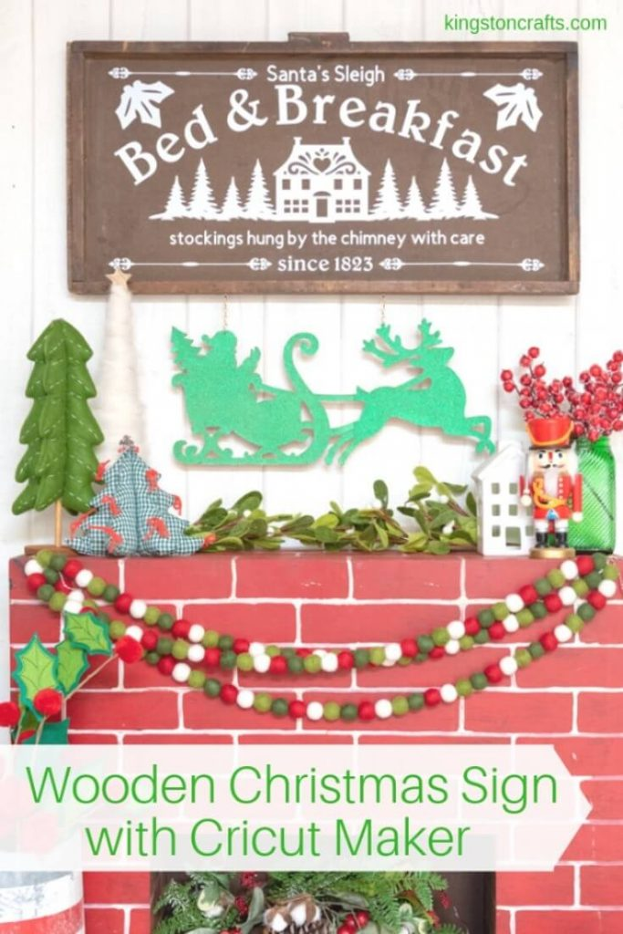 Wooden Christmas Sign with Cricut Maker - Kingston Crafts