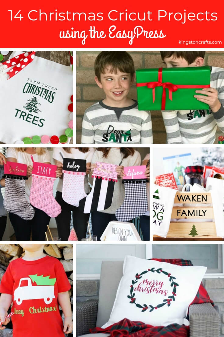 14 Christmas Cricut Projects using the EasyPress- Kingston Crafts