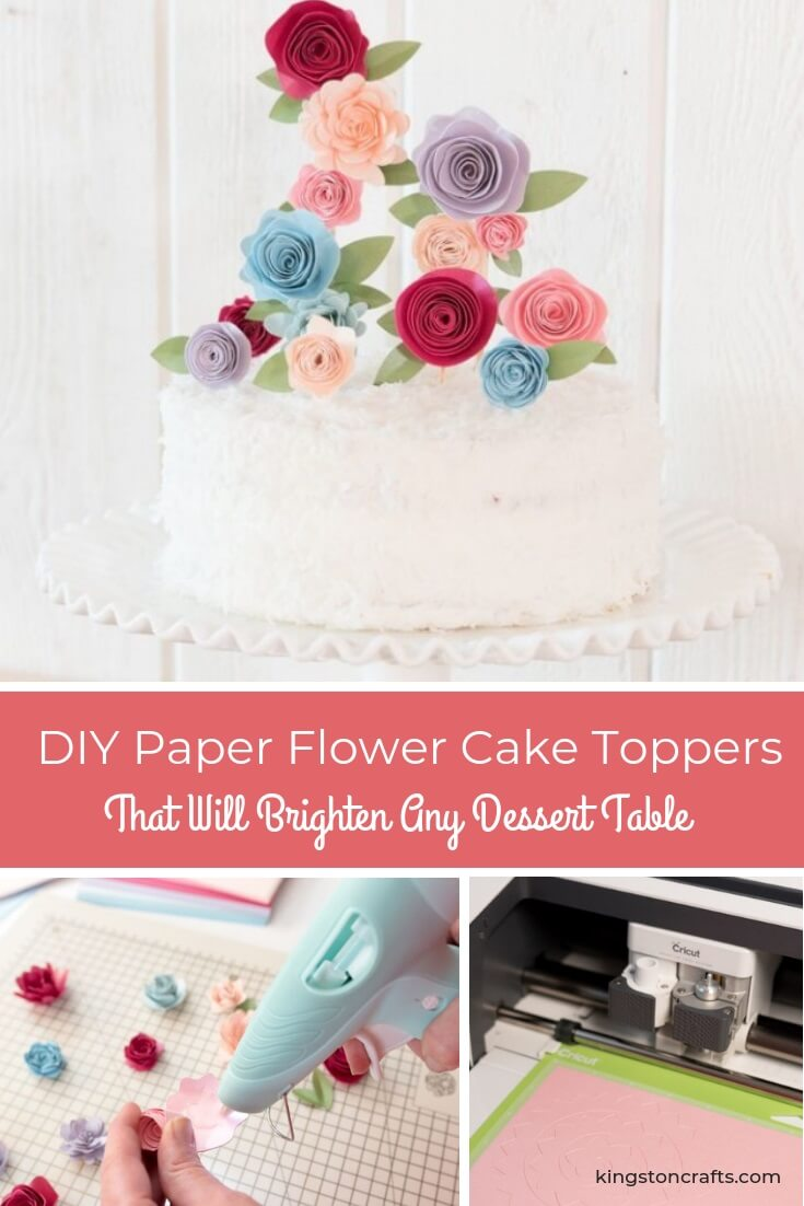 DIY Paper Flower Cake Toppers That Will Brighten Any Dessert Table