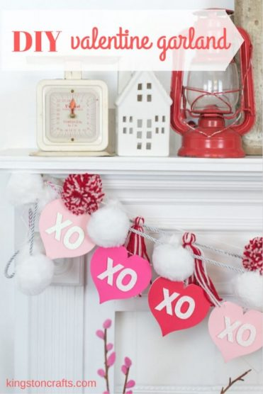 DIY Valentine's Day Garland- Kingston Crafts