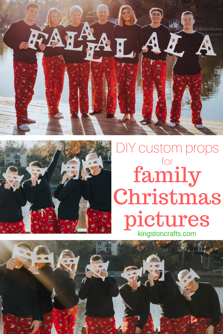 DIY Custom Props for Family Christmas Pictures