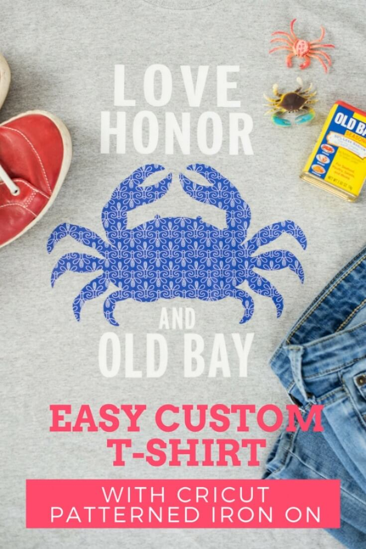Easy Custom T-Shirt with Cricut Patterned Iron On