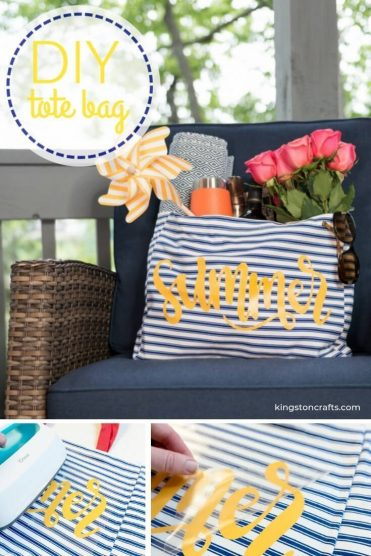 Easy DIY Summer Tote Bag - Kingston Crafts