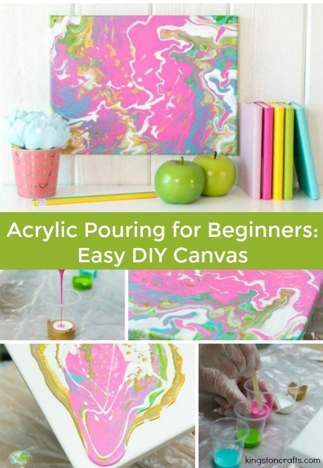 Acrylic Pouring for Beginners: Easy DIY Canvas