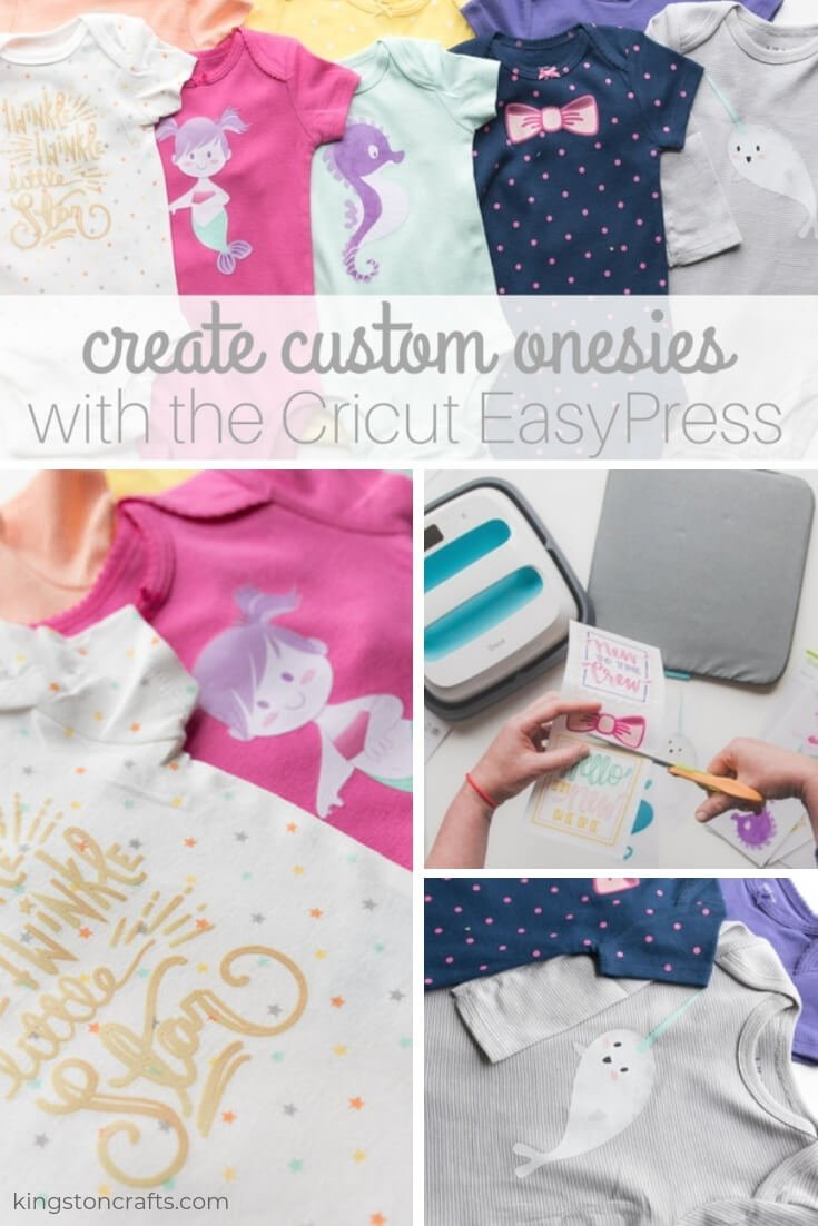 Create Custom Onesies with the Cricut EasyPress - Kingston Crafts