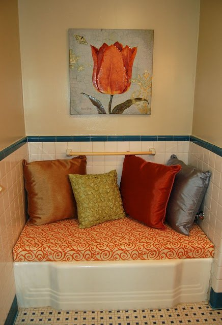 Create a Bathroom Bench from an Unused Bathtub - 10 - Kingston Crafts