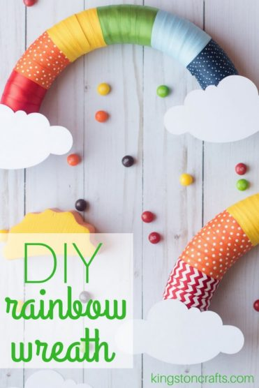 DIY Rainbow Ribbon Wreath - Kingston Crafts