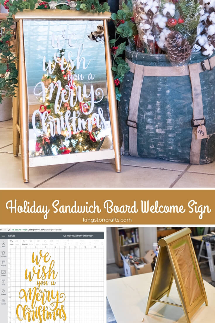 Holiday Sandwich Board Welcome Sign