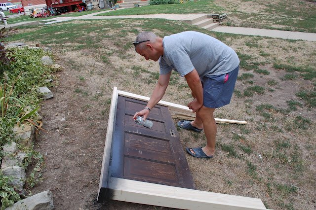 How To Build A Headboard From An Old Door - 3 - Kingston Crafts