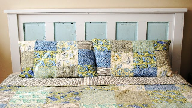 How To Build A Headboard From An Old Door - 7 - Kingston Crafts