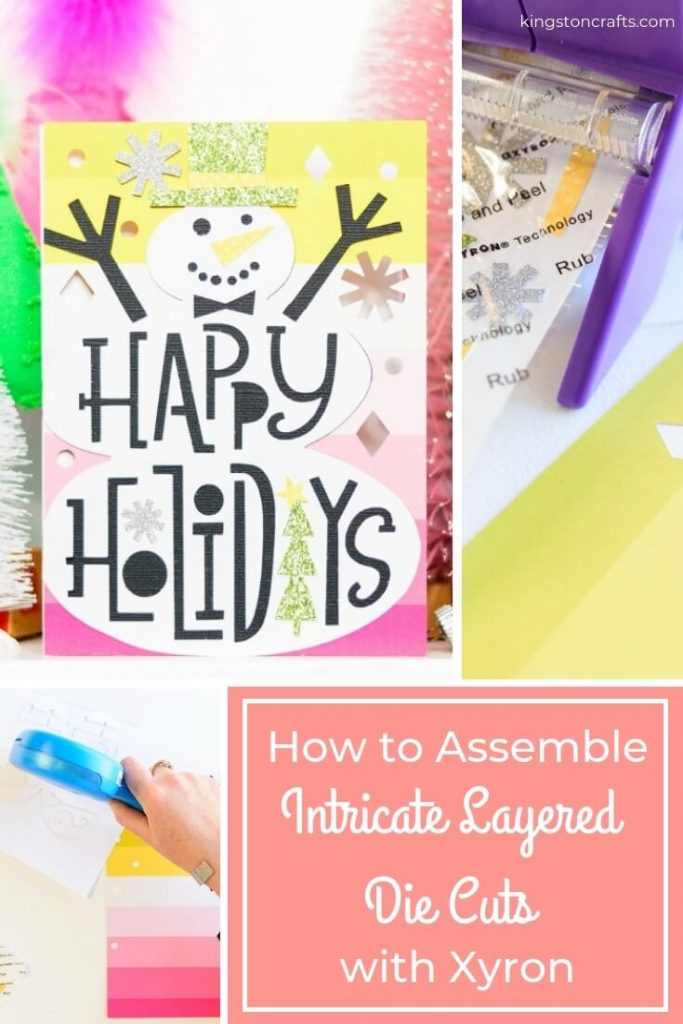 How to Assemble Intricate Layered Die Cuts with Xyron - Kingston Crafts
