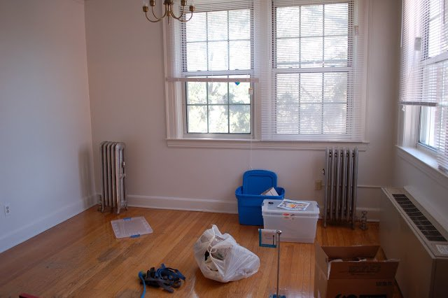 sunroom with items on the floor