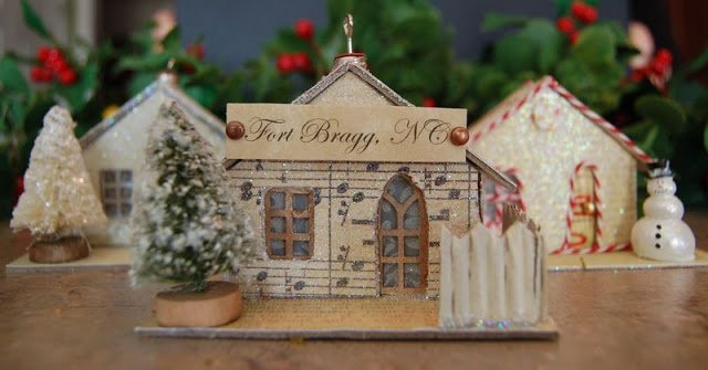 Melissa Frances Chipboard Houses Tutorial - 1 - Kingston Crafts