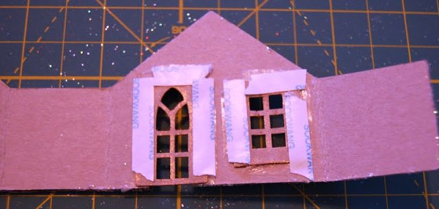 Melissa Frances Chipboard Houses Tutorial - 18 - Kingston Crafts