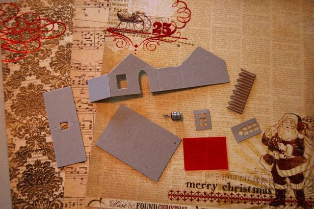 Melissa Frances Chipboard Houses Tutorial - 2 - Kingston Crafts