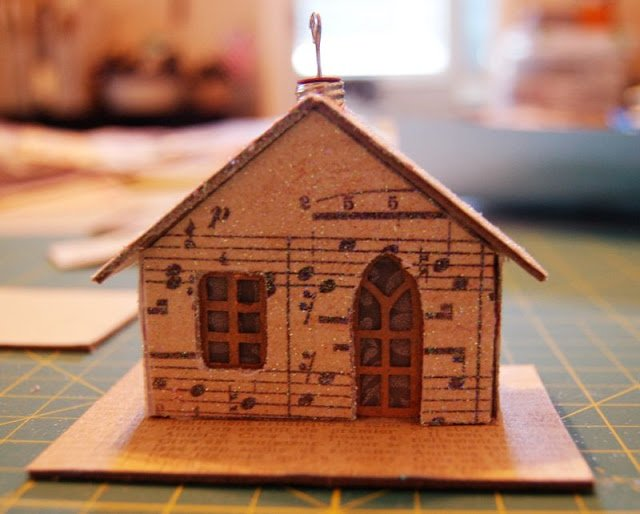 Melissa Frances Chipboard Houses Tutorial - 26 - Kingston Crafts