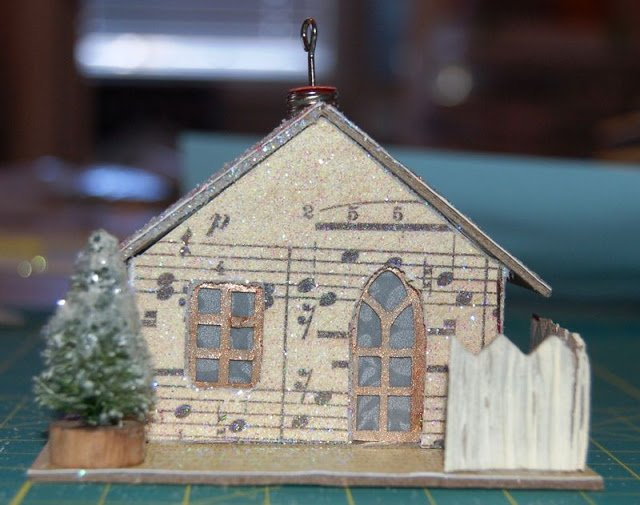 Melissa Frances Chipboard Houses Tutorial - 27 - Kingston Crafts