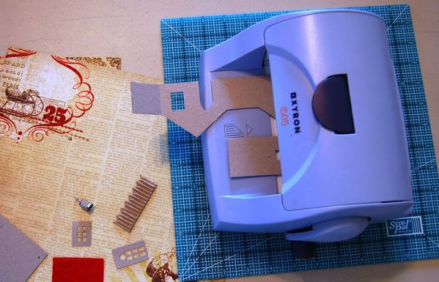 Melissa Frances Chipboard Houses Tutorial - 3 - Kingston Crafts