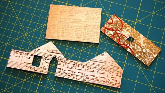 Melissa Frances Chipboard Houses Tutorial - 7 - Kingston Crafts
