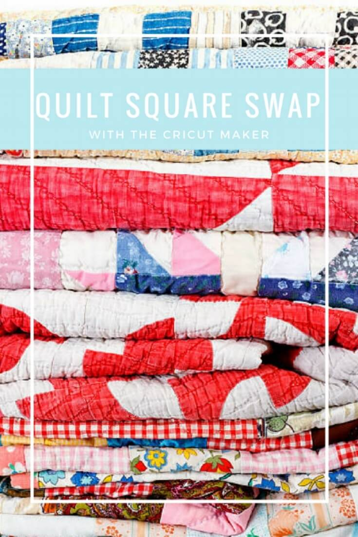 Quilt Square Swap for Beginners with Cricut Maker - Kingston Crafts