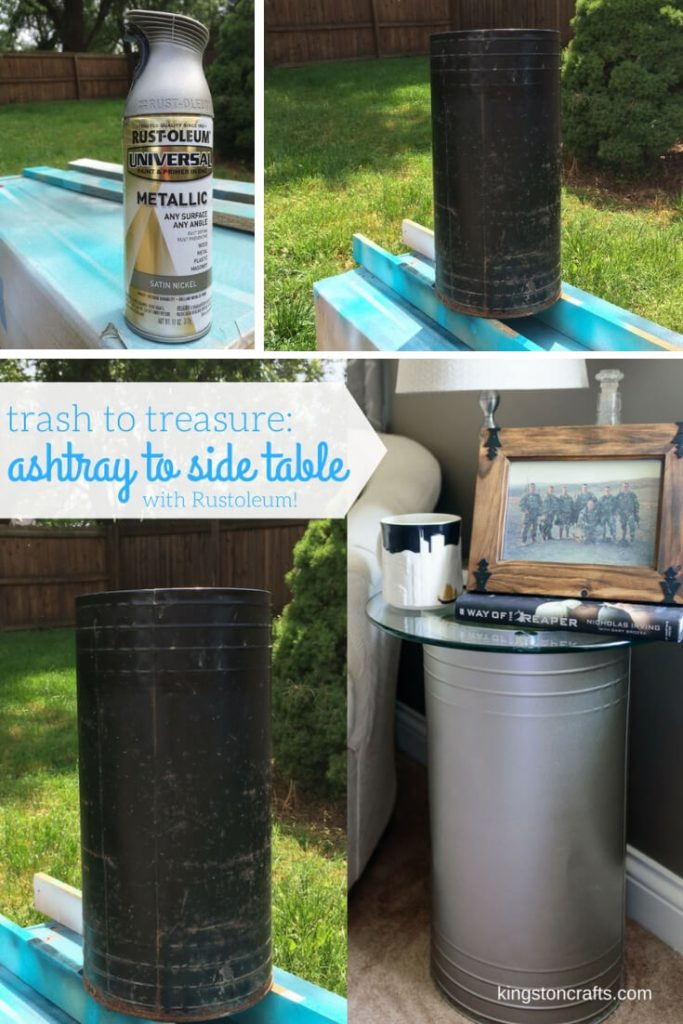 Trash to Treasure Turn an Ashtray in to a Side Table - Kingston Crafts