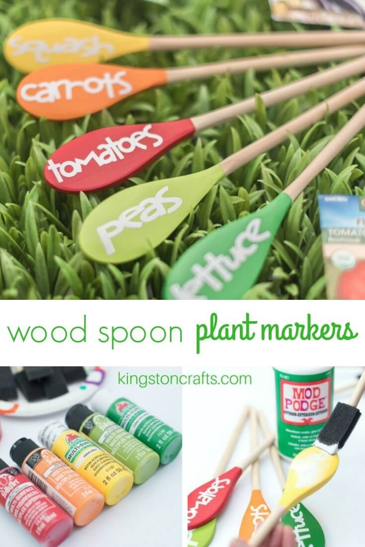 Wood Spoon Garden Markers - Kingston Crafts