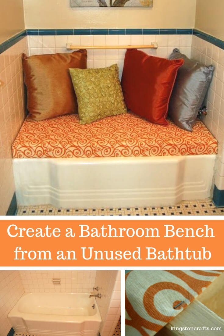 Create a Bathroom Bench from an Unused Bathtub - Kingston Crafts