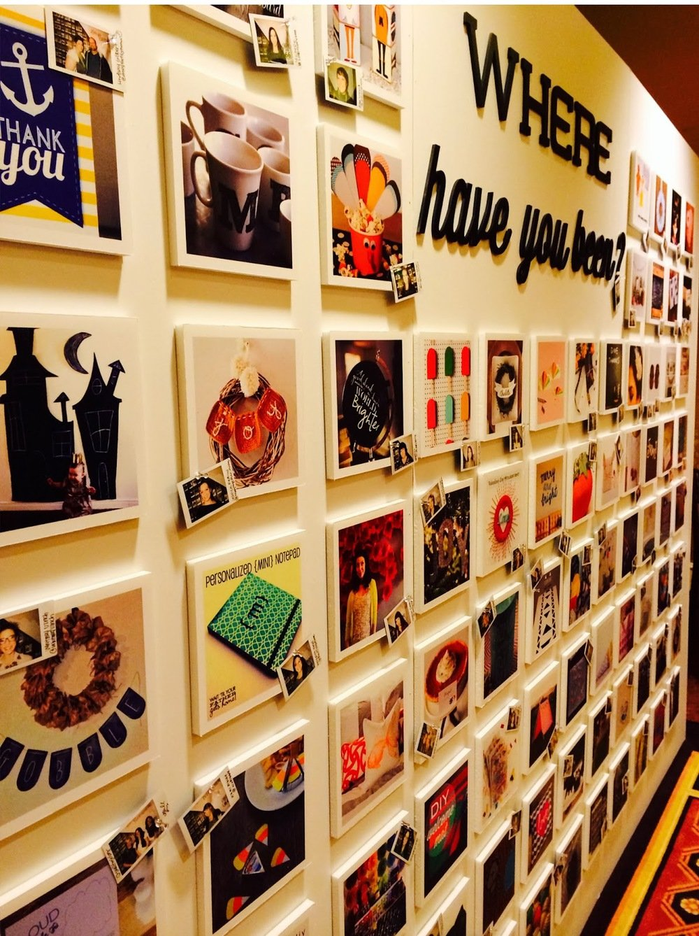 wall of photos at cricut explore launch party
