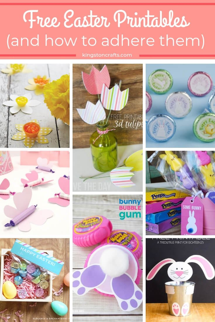 FREE Easter Printables and How to Adhere Them (as seen on HSN) - Kingston Crafts