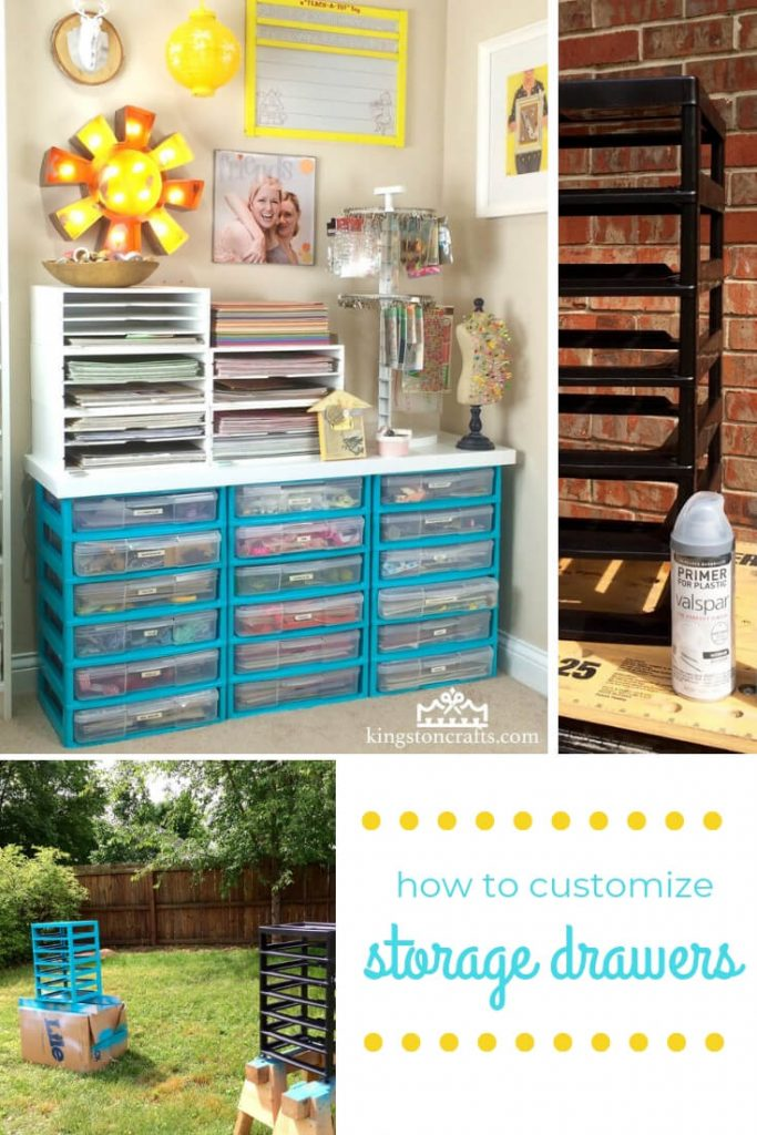 I {heart} spray paint – customize your plastic storage drawers! - Kingston Crafts